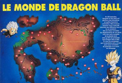 fiche carte du monde de dbz dragon ball z gt. Black Bedroom Furniture Sets. Home Design Ideas