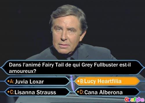 Qui veut gagner des millions ? De qui Grey et amoureux ?