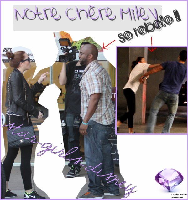 Miley Se rebelle contre les pap's !