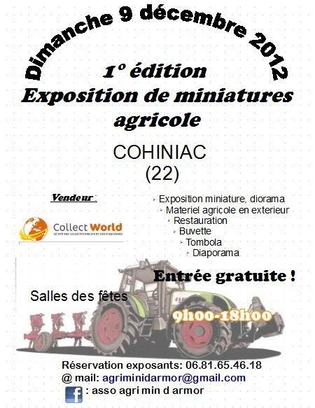 exposition de miniature agricole le 9 decembre 2012 a cihiniac 22