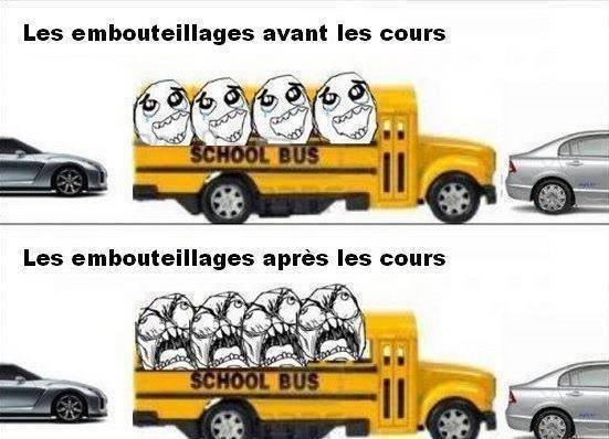 Les embouteillages...