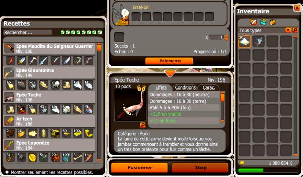 Craft épée toche