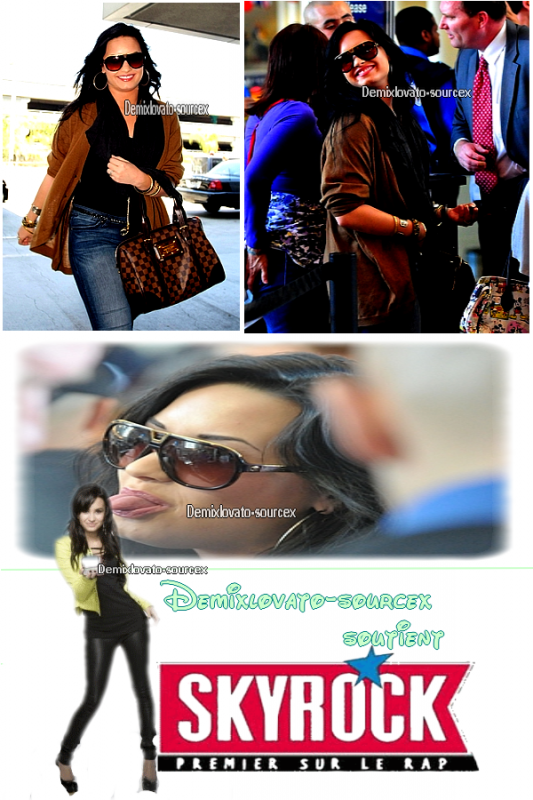 . 15/04/2011 : Demi etait a l'aeroport LAX a L.A. .