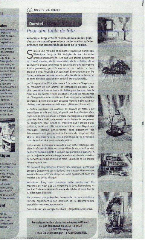 ARTICLE DERNIERES NOUVELLES D'ALSACE