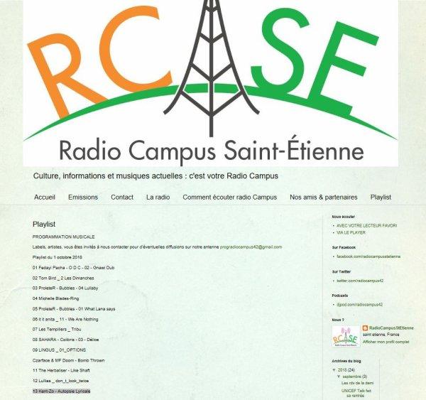 """""""Autopsie Lyricale""""  lundi 1er octobre 2018 sur Radio Campus Saint Etienne."""