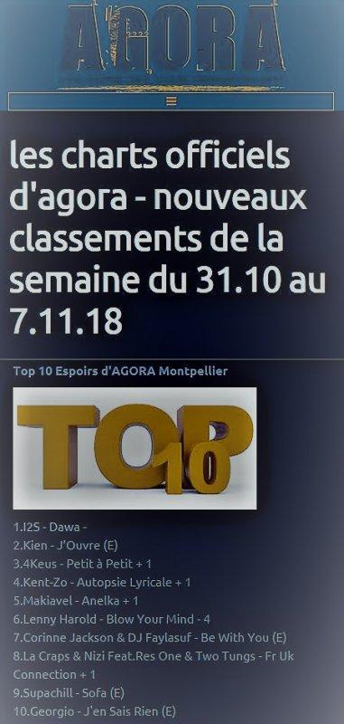 """"""" Autopsie Lyricale """"  dans le Top 10 Espoirs de la radio Agora de Montpellier"""