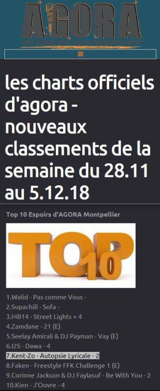 """"""" Autopsie Lyricale """" sur la radio Agora de Montpellier du 28 novembre au 5 décembre 2018."""