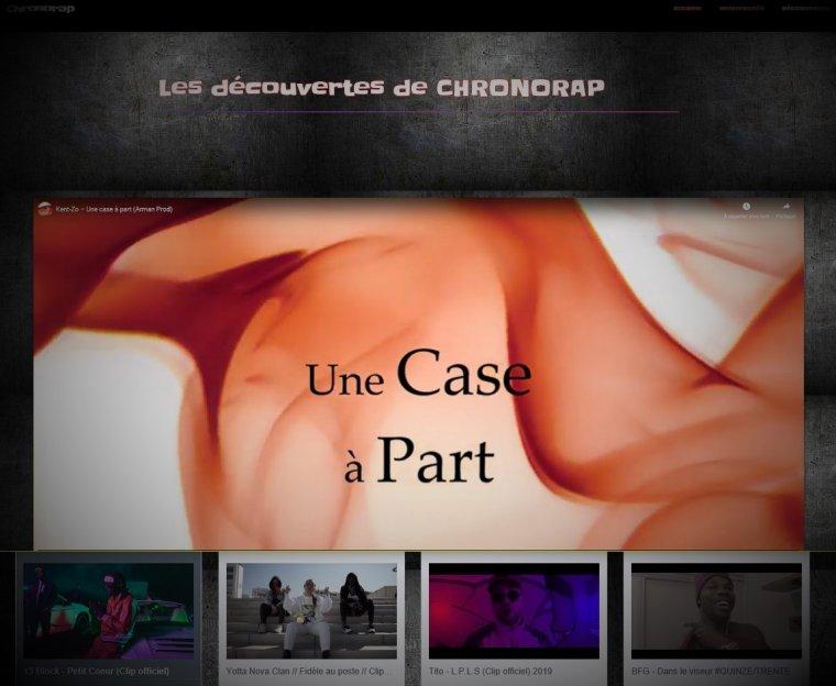 """""""Une case à part"""" présent sur le site Chronorap."""