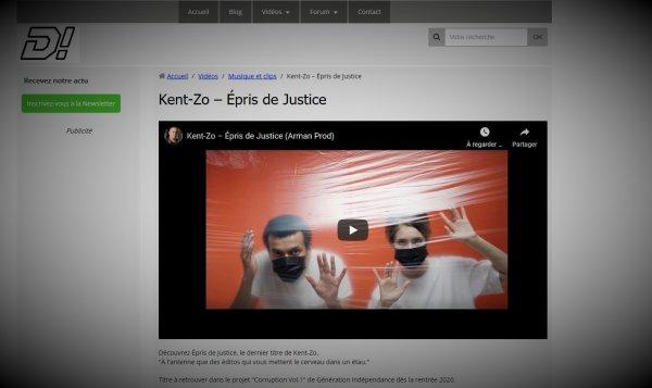 """Le clip """" Épris de Justice """" est sur le site web  Divertir !"""