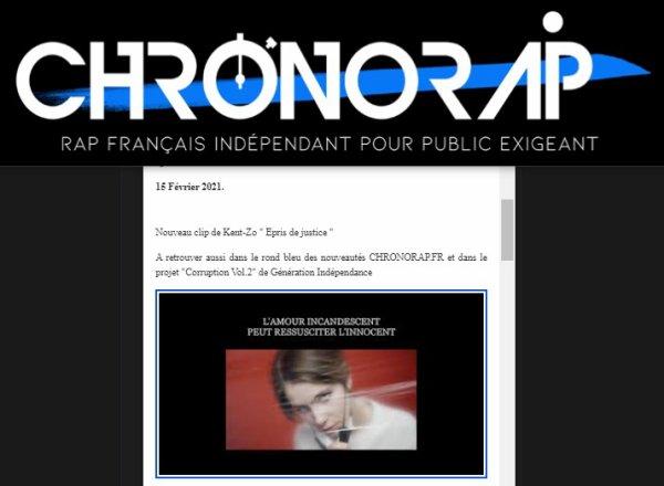 """""""Épris de Justice"""" sur Chronorap !"""