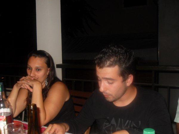 Allister et moi à l'anniversaire de jean-michel en Août 2013
