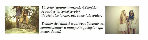 l'amitier & l'amour