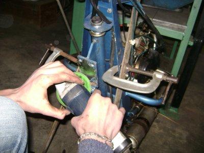 poutre + la roue avant et le moteur