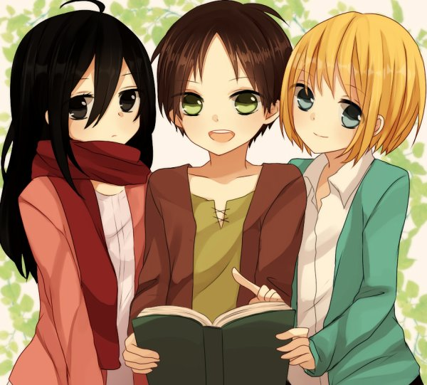 Image 72 : Eren , Armin et Mikasa
