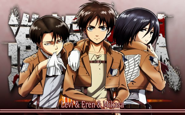 Image 171 : Levi , Mikasa et Eren [ Partie 2 ]