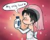 Image 251 : Il se marie avec un produit de manage ? xD Ou plutot il se marie avec Pixis