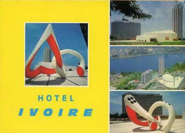 CARTES  POSTALES  D  ABIDJAN...1950...2013...HOTEL IVOIRE apres 67