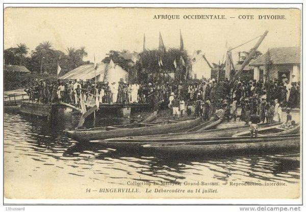 BINGERVILLE    epoque  coloniale...1900...1950...le debarcadere..01.05.2013