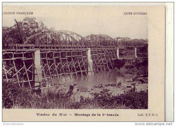 grands travaux coloniaux : ran  le  pont  sur  le  n  zi...