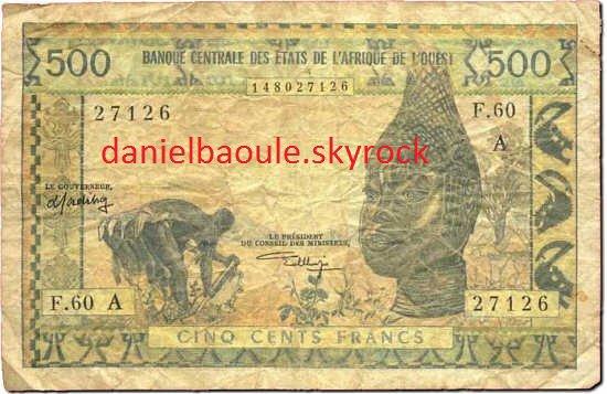 BILLETS  DE  BANQUE  ...100 FRANS CFA...500 FRANCS.......5000  C.F.A