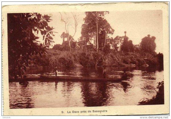 le sassandra et ses affluents  epoque coloniale
