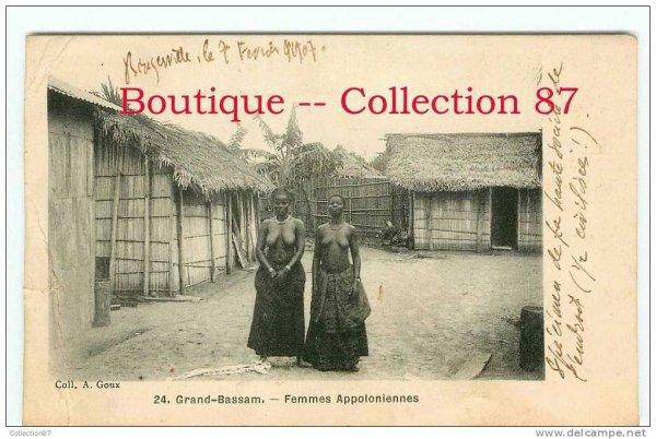 grandbassam  epoque coloniale..les  habitants...14.09.2013......