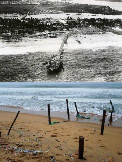 grand bassam historique...le  wharf...1920...1965...2010..2013...