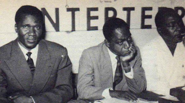 houphouet boigny  avec sekou toure..president de la  guinee