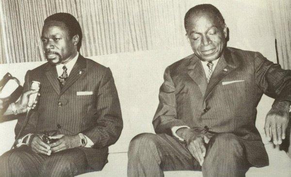 houphouet   boigny  avec  omar  bongo..president du  gabon