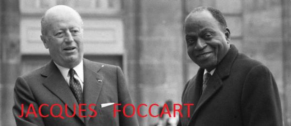 houphouet boigny  et  jacques  foccard  mr  france afrique durant des dizaines d  annees