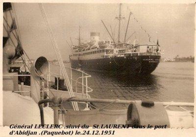 voyage  bateau...paquebot  general  leclerc....