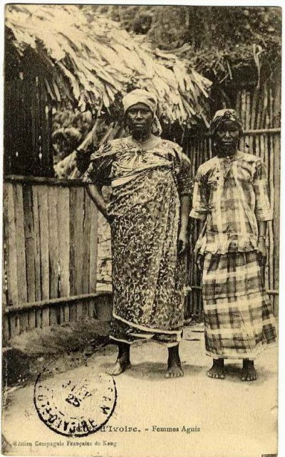 vie  au  village  groupe  akan  sud  est : baoule,abron,agni..epoque  coloniale...
