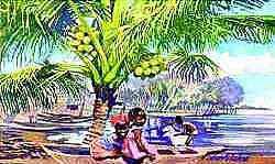 c..achalme...la  peintre specialiste  de  epoque  coloniale à  abidjan...
