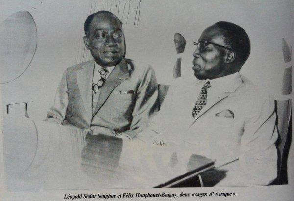 le  vieux  avec  les  presidents  du    SENEGAL..