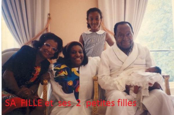 houphouet  boigny...photos  de  sa  famille....