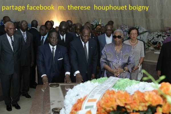 celebration du 20 eme anniversaire des  funerailles  du  vieux à  la  fondation de yamoussokro  le  7  decembre  2013......