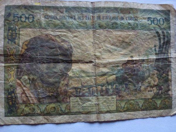 aof....billets  banque....500  frs  cfa