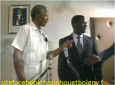mandela  et  la  cote d  ivoire...loe  7 decembre 1991 à  yamoussokro......