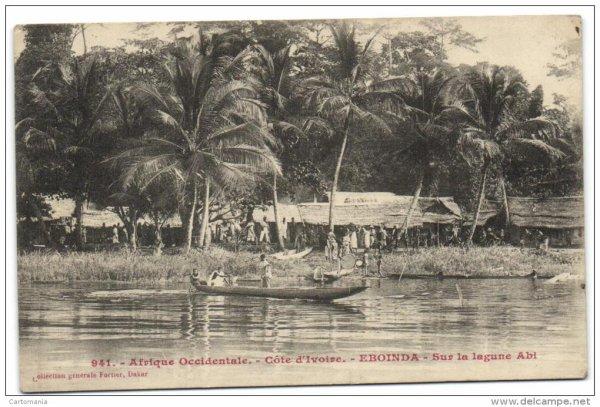 eboinda...sur  la  lagune  aby...avant  avant.......