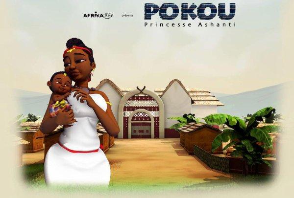 Le sacrifice de la reine Pokou....Abla Pokou est la nièce de l'empereur Osei Tutu de la confédération Ashanti du Ghana. L'empereur Tutu, grand bâtisseur, imprima un remarquable essor à l'empire et fit de la riche région de Koumassi une capitale dont on racontait que les rues étaient pavées de lingots d'or. Après sa mort vers 1720, son neveu utérin, Opokou Ware, frère aîné de Pokou, maintint tant bien que mal la cohésion du pays. Mais trente ans plus tard, en 1749, la disparition de ce dernier provoqua une querelle de succession entre son jeune frère, héritier désigné, et un de ses oncles, qui mit le pays à feu et à sang