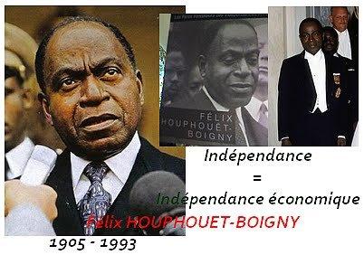 le  president  houphouet boigny...portraits