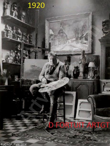 le peintre VLAMINCK le  premier fan  et collectionneur de art   africain