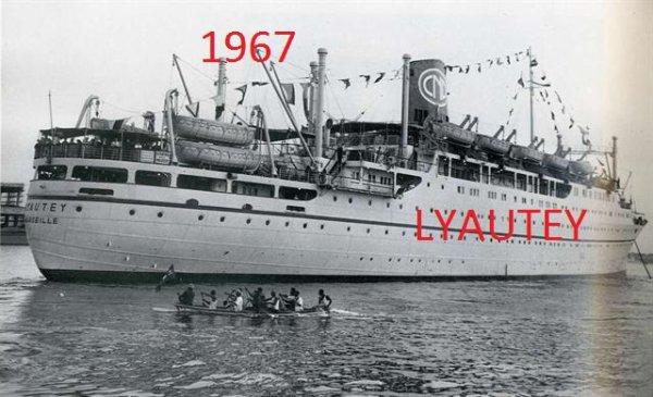 Pour  les  anciens  un  bateau pour   ABIDJANSeptembre 1967, c'était le dernier voyage de ce paquebot qui avait été construit dans les chantiers de la Seyne sur mer. Le navire, lancé le 14 octobre 1950, avait été livré à la compagnie Paquet le 8 mars 1952. Au départ de Marseille, il desservait au départ l'Afrique du Nord et le Maroc. La ligne rapide reliait la France au Maroc en 39 heures. A partir de juin 1952, il relie le Sénégal en 97 h 30 à 22,80 n½uds de moyenne, mettant ainsi Dakar à moins de 100 heures de Marseille. Un record à l'époque. Le paquebot pouvait transporter jusqu'à 1 200 passagers répartis dans cinq catégories différentes
