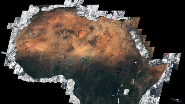 Un satellite de l'Agence spatiale européenne est parvenu, après près de cinq mois de travail, à composer une image du continent africain sans aucun nuage.