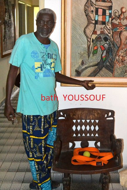 avec ACHALME mes  peintres  IVOIRIENS  PREFERES