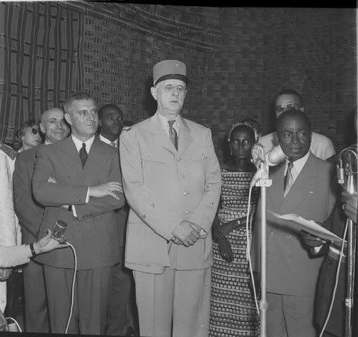 CHARLES DE  GAULLE à ABIDJAN 1958