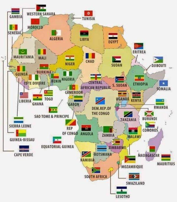 LE SAVIEZ VOUS? La signification des noms des pays Africains!!! Lis et partage pour cultiver les autres..