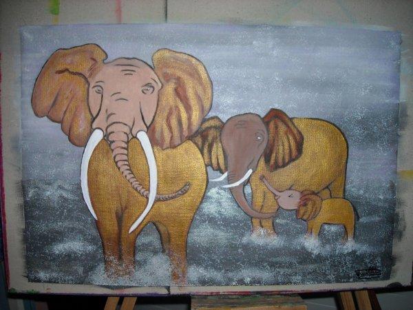 Éléphants d'or