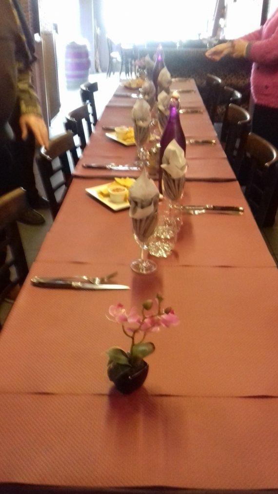 voila repas d anniversaire d un ami au resto ce midi