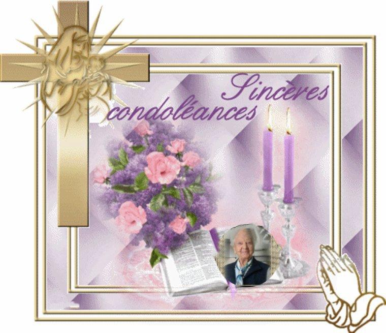 hommage de mon amie rebeccadix pour le deces de belle maman